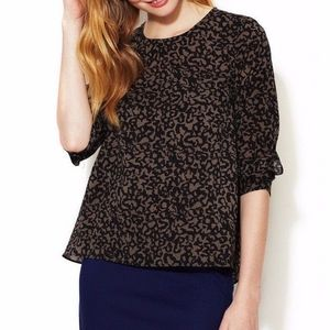 French Connection Flowy Leopard Animal Print SZ 2